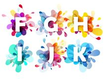 Abstract colorful capital letters set. Vector art Royalty Free Stock Image