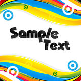 Abstract Colorful Card Royalty Free Stock Image