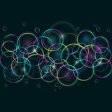 Abstract Colorful Card with Bubbles Royalty Free Stock Image