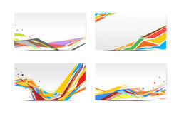 Abstract colorful cards Royalty Free Stock Photography