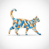 Abstract colorful cat. Royalty Free Stock Photos