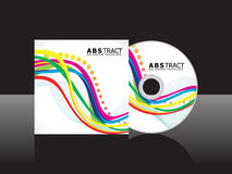 Abstract colorful cd cover template Stock Photos