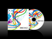 Abstract colorful cd template Royalty Free Stock Images