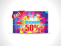 Abstract colorful celebration discount card Stock Photography