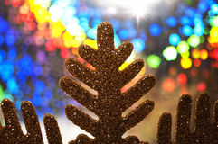 Abstract colorful christmas background with snowflake Stock Photos