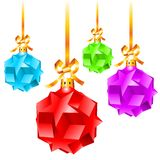 Abstract colorful Christmas decorations. Illustration on white background royalty free illustration