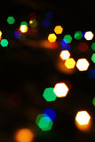Abstract colorful Christmas lights. Stock Images