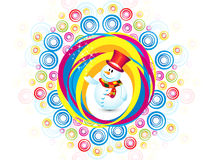 Abstract colorful christmas snowman explode. Vector illustration royalty free illustration