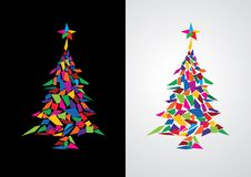 Abstract colorful christmas tree Royalty Free Stock Image