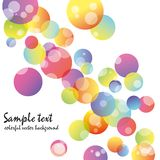 Abstract colorful circle background Royalty Free Stock Images