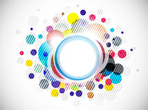 Abstract colorful circle background Royalty Free Stock Photography