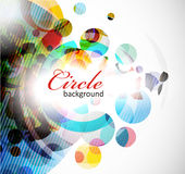 Abstract colorful circle background Stock Images