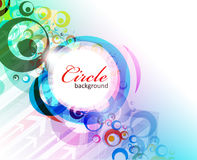 Abstract colorful circle background Royalty Free Stock Photo