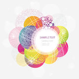 Abstract colorful circle background Stock Image
