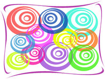 Abstract colorful circle background. Multi-colored abstract cirle on white background Royalty Free Stock Photos