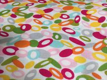Abstract colorful circle background quilt fabric Stock Image