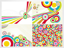 Abstract Colorful Circle Background,set Royalty Free Stock Photography