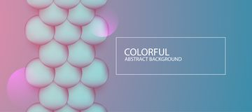 Abstract colorful circle background. Vector illustration. With multiple artistic elements royalty free illustration