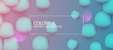 Abstract colorful circle background. Vector illustration. With multiple artistic elements stock illustration