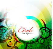 Abstract colorful circle banner background Stock Photos