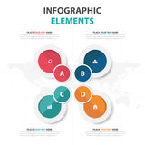 Abstract colorful circle business Infographics elements, presentation template flat design vector illustration for web design Stock Photography