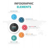 Abstract colorful circle business Infographics elements, presentation template flat design vector illustration for web design Royalty Free Stock Photo