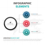 Abstract colorful circle business Infographics elements, presentation template flat design vector illustration for web design Stock Images