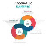 Abstract colorful circle business timeline Infographics elements, presentation template flat design vector illustration for web. Design marketing advertising Stock Images