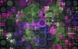 Abstract colorful circle generated background wallpaper Stock Image