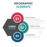 Abstract colorful circle hexagon business Infographics elements, presentation template flat design vector illustration for web. Design marketing advertising royalty free illustration