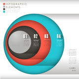 Abstract colorful circle infographic elements. Modern  abstract colorful circle infographic elements Stock Images