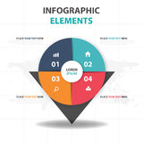 Abstract colorful circle pin business Infographics elements, presentation template flat design vector illustration for web design Stock Photography