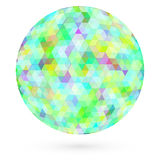 Abstract colorful circle. Raster Royalty Free Stock Images