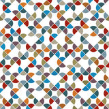 Abstract colorful circle shape tiles seamless pattern. Stock Photography