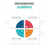 Abstract colorful circle square business Infographics elements, presentation template flat design vector illustration for web. Design marketing advertising royalty free illustration