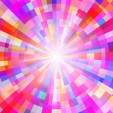 Abstract Colorful Circle Tunnel. Vector Background. Illustration Stock Images