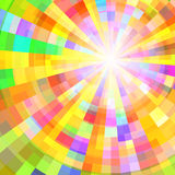 Abstract Colorful Circle Tunnel. Vector Background. Illustration Royalty Free Stock Photo