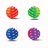 Abstract colorful circle vector logo template4 royalty free illustration