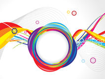 Abstract colorful circle wave template Stock Images