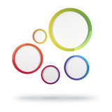 Abstract Colorful Circles. 3d abstract design with colorful circles on white background Stock Photography