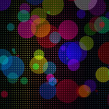 Abstract colorful circles background. Abstract background with colorful circles and dots Stock Photography