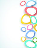 Abstract colorful circles, vector  Royalty Free Stock Photography