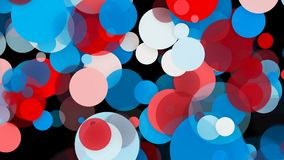 Abstract colorful circles background. 3d rendering backdrop Royalty Free Stock Image