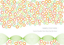 Abstract colorful circles background Stock Image