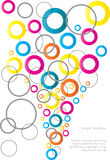 Abstract colorful circles background Royalty Free Stock Photos