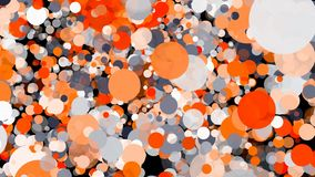 Abstract colorful circles background. Digital illustration. 3d rendering Stock Image