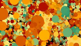 Abstract colorful circles background. Digital illustration. 3d rendering Stock Photos