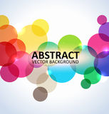 Abstract colorful circles background stock illustration