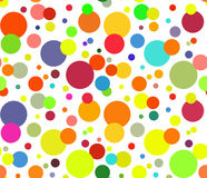 Abstract colorful circles background Stock Images