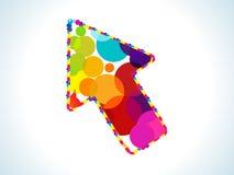 Abstract colorful circles based cursor Royalty Free Stock Image
